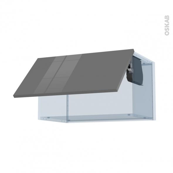STECIA Gris - Kit Rénovation 18 - Meuble haut abattant H35  - 1 porte - L60xH35xP37,5