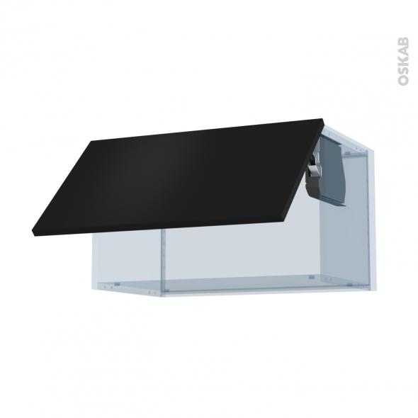 GINKO Noir - Kit Rénovation 18 - Meuble haut abattant H35  - 1 porte - L60xH35xP37,5