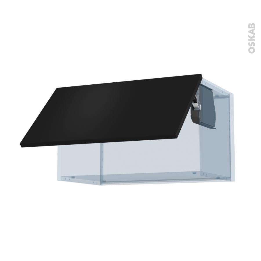 Ginko noir kit r novation 18 meuble haut abattant h35 1 Boitier relevant pour double porte de meuble cuisine