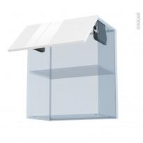 STECIA Blanc - Kit Rénovation 18 - Meuble haut MO niche 36/38  - 1 porte - L60xH70xP37,5