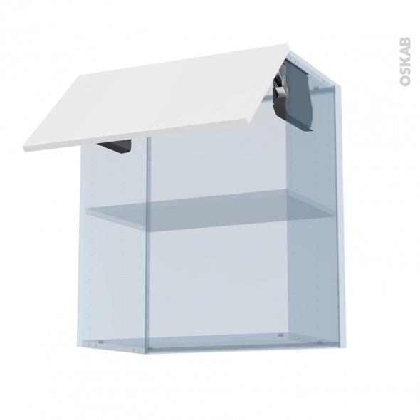 GINKO Blanc - Kit Rénovation 18 - Meuble haut MO niche 36/38 - 1 porte - L60xH70xP37,5