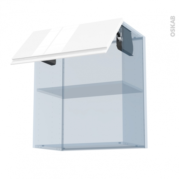 IPOMA Blanc - Kit Rénovation 18 - Meuble haut MO niche 36/38  - 1 porte - L60xH70xP37,5