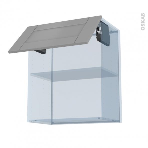 FILIPEN Gris - Kit Rénovation 18 - Meuble haut MO niche 36/38  - 1 porte - L60xH70xP37,5