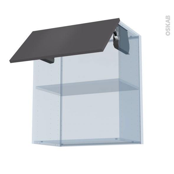 GINKO Gris - Kit Rénovation 18 - Meuble haut MO niche 36/38  - 1 porte - L60xH70xP37,5
