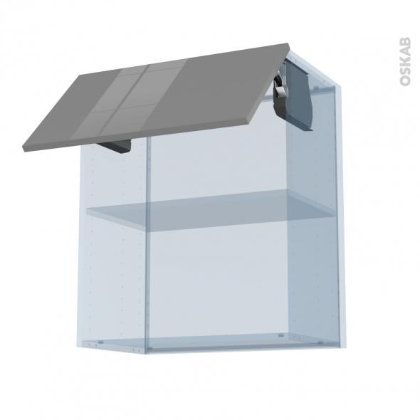 STECIA Gris - Kit Rénovation 18 - Meuble haut MO niche 36/38  - 1 porte - L60xH70xP37,5