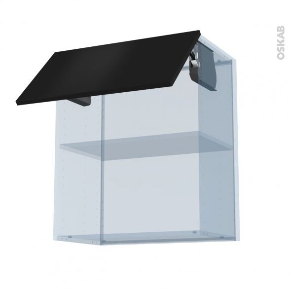 GINKO Noir - Kit Rénovation 18 - Meuble haut MO niche 36/38  - 1 porte - L60xH70xP37,5