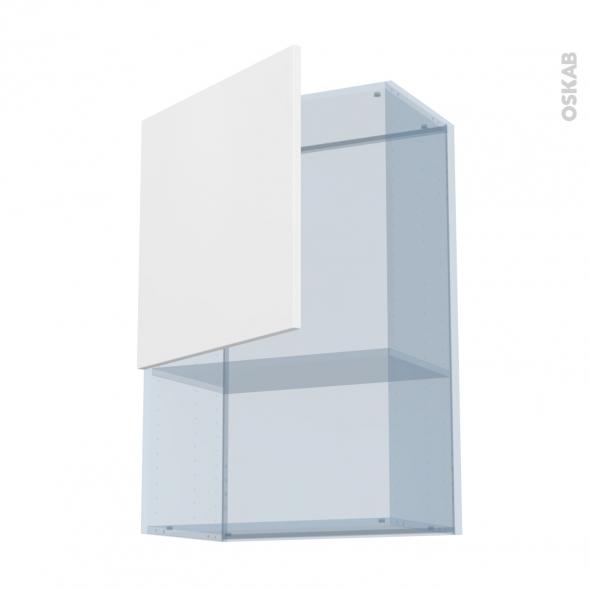 GINKO Blanc - Kit Rénovation 18 - Meuble haut MO niche 36/38 - 1 porte - L60xH92xP37,5