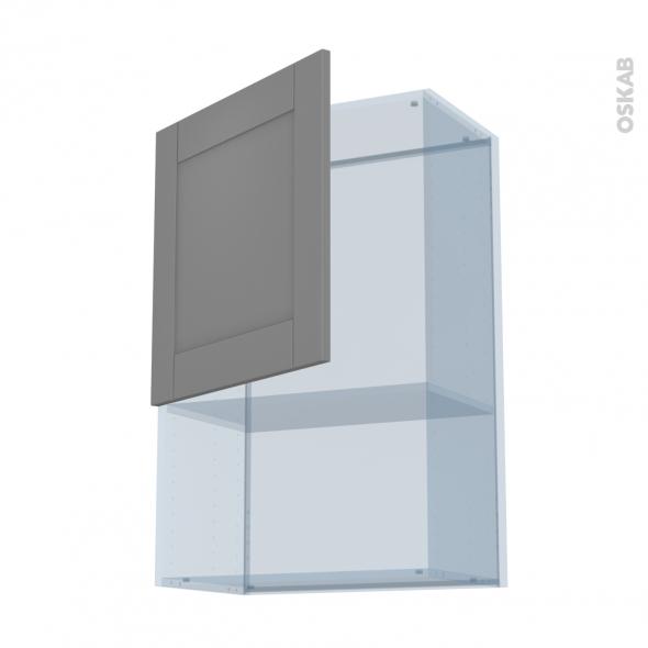 FILIPEN Gris - Kit Rénovation 18 - Meuble haut MO niche 36/38  - 1 porte - L60xH92xP37,5