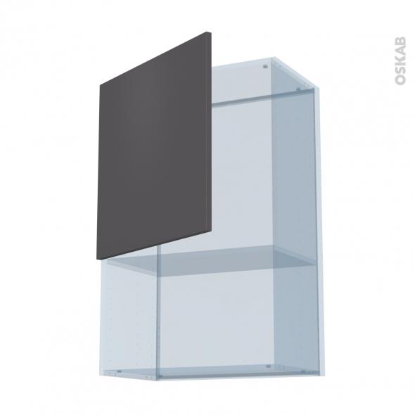 GINKO Gris - Kit Rénovation 18 - Meuble haut MO niche 36/38  - 1 porte - L60xH92xP37,5