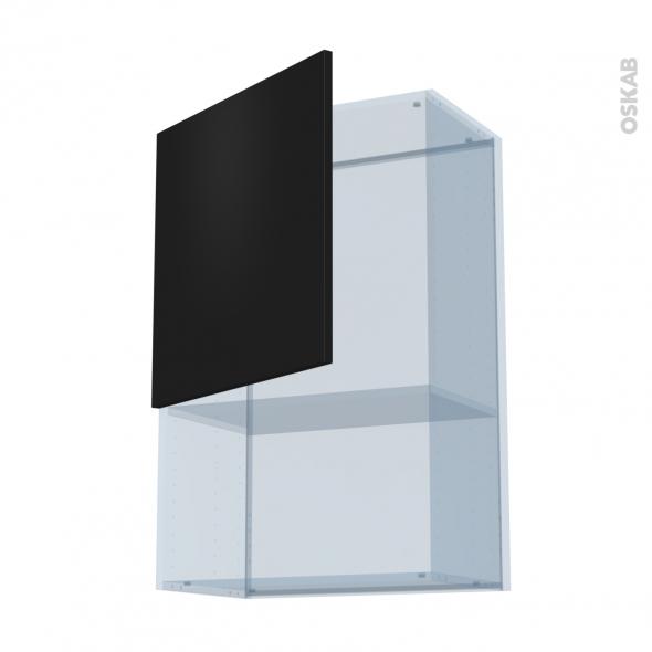 GINKO Noir - Kit Rénovation 18 - Meuble haut MO niche 36/38  - 1 porte - L60xH92xP37,5