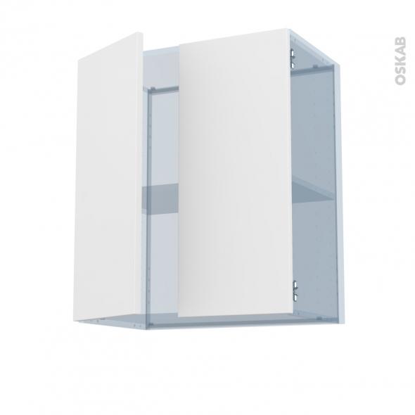 GINKO Blanc - Kit Rénovation 18 - Meuble haut ouvrant H70 - 2 portes - L60xH70xP37,5