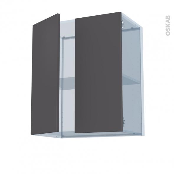 GINKO Gris - Kit Rénovation 18 - Meuble haut ouvrant H70 - 2 portes - L60xH70xP37,5