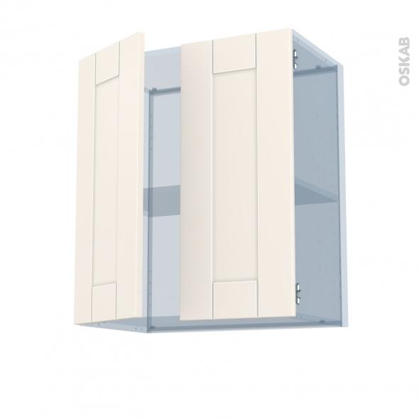 FILIPEN Ivoire - Kit Rénovation 18 - Meuble haut ouvrant H70 - 2 portes - L60xH70xP37,5