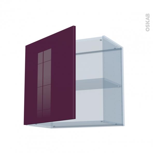KERIA Aubergine - Kit Rénovation 18 - Meuble haut ouvrant H57 - 1 porte - L60xH57xP37,5
