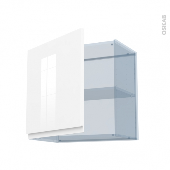 IPOMA Blanc - Kit Rénovation 18 - Meuble haut ouvrant H57 - 1 porte - L60xH57xP37,5