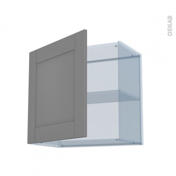 FILIPEN Gris - Kit Rénovation 18 - Meuble haut ouvrant H57 - 1 porte - L60xH57xP37,5