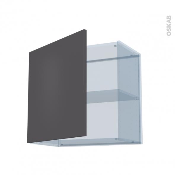 GINKO Gris - Kit Rénovation 18 - Meuble haut ouvrant H57 - 1 porte - L60xH57xP37,5