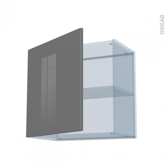 STECIA Gris - Kit Rénovation 18 - Meuble haut ouvrant H57 - 1 porte - L60xH57xP37,5