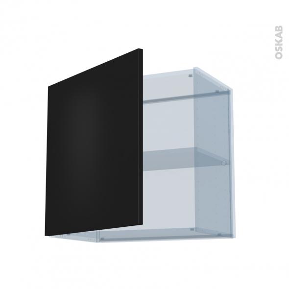 GINKO Noir - Kit Rénovation 18 - Meuble haut ouvrant H57 - 1 porte - L60xH57xP37,5