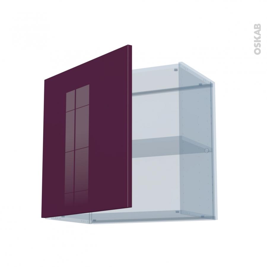 keria aubergine kit r novation 18 meuble haut ouvrant h57 1 porte l60xh57xp37 5 oskab. Black Bedroom Furniture Sets. Home Design Ideas