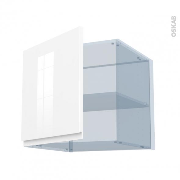 IPOMA Blanc - Kit Rénovation 18 - Meuble haut ouvrant H57 - 1 porte - L60xH57xP60