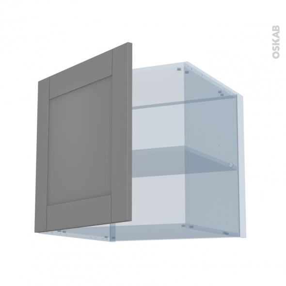 FILIPEN Gris - Kit Rénovation 18 - Meuble haut ouvrant H57 - 1 porte - L60xH57xP60