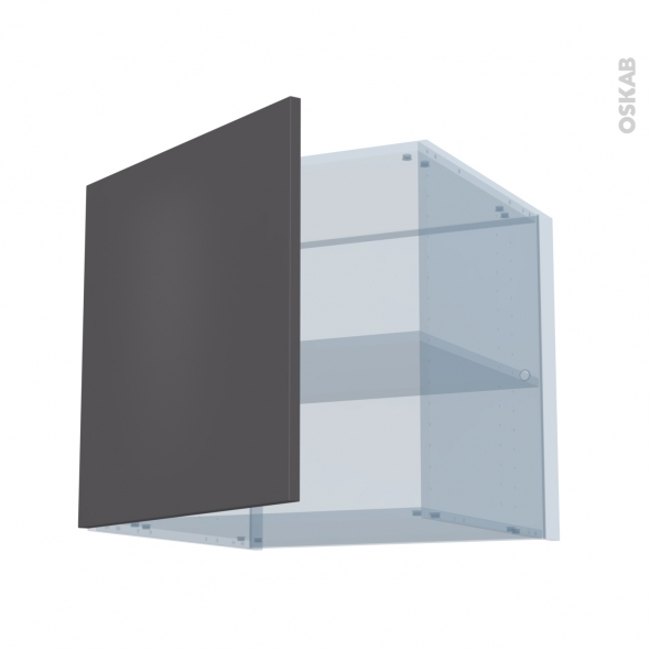 GINKO Gris - Kit Rénovation 18 - Meuble haut ouvrant H57 - 1 porte - L60xH57xP60
