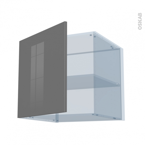 STECIA Gris - Kit Rénovation 18 - Meuble haut ouvrant H57 - 1 porte - L60xH57xP60