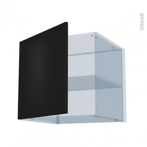 GINKO Noir - Kit Rénovation 18 - Meuble haut ouvrant H57 - 1 porte - L60xH57xP60