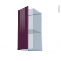KERIA Aubergine - Kit Rénovation 18 - Meuble haut ouvrant H70  - 1 porte - L30xH70xP37,5
