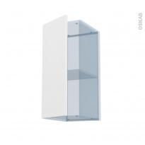 GINKO Blanc - Kit Rénovation 18 - Meuble haut ouvrant H70 - 1 porte - L30xH70xP37,5