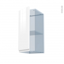 IPOMA Blanc - Kit Rénovation 18 - Meuble haut ouvrant H70  - 1 porte - L30xH70xP37,5