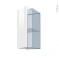 STECIA Blanc - Kit Rénovation 18 - Meuble haut ouvrant H70  - 1 porte - L30xH70xP37,5