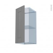 FILIPEN Gris - Kit Rénovation 18 - Meuble haut ouvrant H70  - 1 porte - L30xH70xP37,5