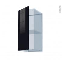 KERIA Noir - Kit Rénovation 18 - Meuble haut ouvrant H70  - 1 porte - L30xH70xP37,5
