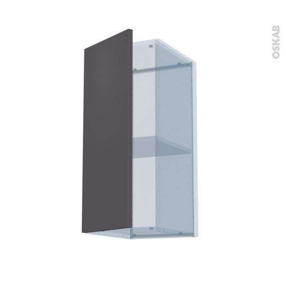 GINKO Gris - Kit Rénovation 18 - Meuble haut ouvrant H70  - 1 porte - L30xH70xP37,5