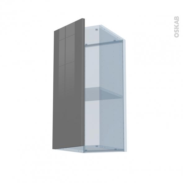 STECIA Gris - Kit Rénovation 18 - Meuble haut ouvrant H70  - 1 porte - L30xH70xP37,5