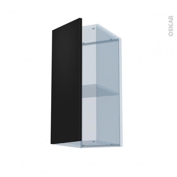 GINKO Noir - Kit Rénovation 18 - Meuble haut ouvrant H70  - 1 porte - L30xH70xP37,5