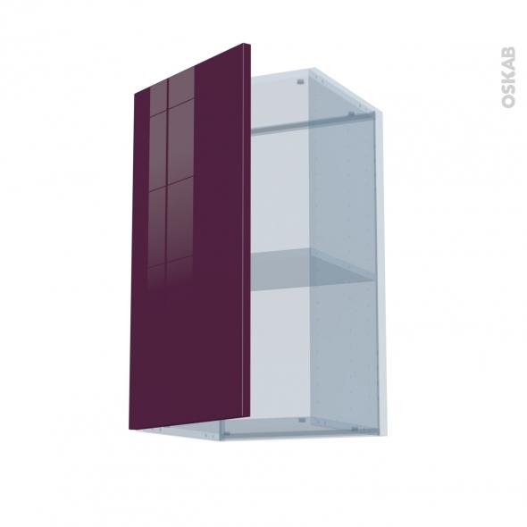 KERIA Aubergine - Kit Rénovation 18 - Meuble haut ouvrant H70  - 1 porte - L40xH70xP37,5