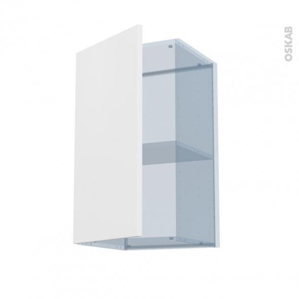 GINKO Blanc - Kit Rénovation 18 - Meuble haut ouvrant H70 - 1 porte - L40xH70xP37,5
