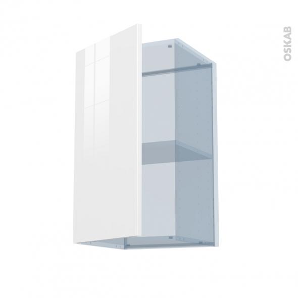 STECIA Blanc - Kit Rénovation 18 - Meuble haut ouvrant H70  - 1 porte - L40xH70xP37,5