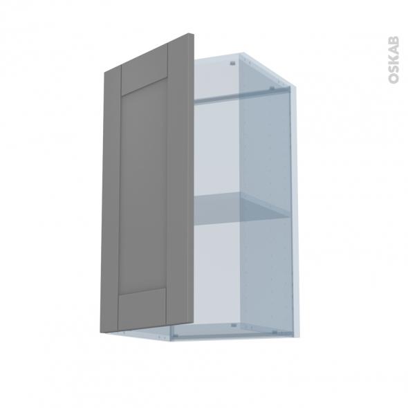 FILIPEN Gris - Kit Rénovation 18 - Meuble haut ouvrant H70  - 1 porte - L40xH70xP37,5