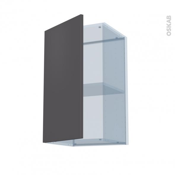 GINKO Gris - Kit Rénovation 18 - Meuble haut ouvrant H70  - 1 porte - L40xH70xP37,5
