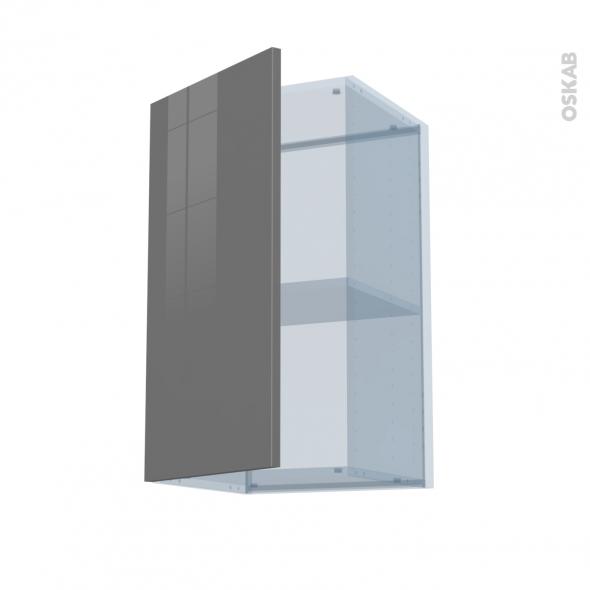 STECIA Gris - Kit Rénovation 18 - Meuble haut ouvrant H70  - 1 porte - L40xH70xP37,5