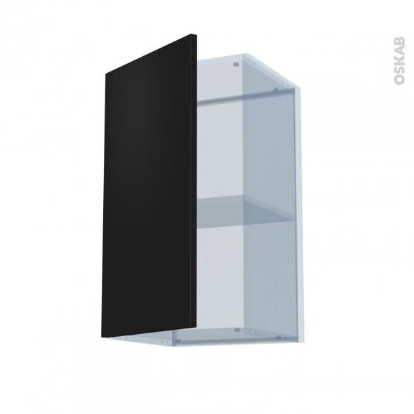 GINKO Noir - Kit Rénovation 18 - Meuble haut ouvrant H70  - 1 porte - L40xH70xP37,5