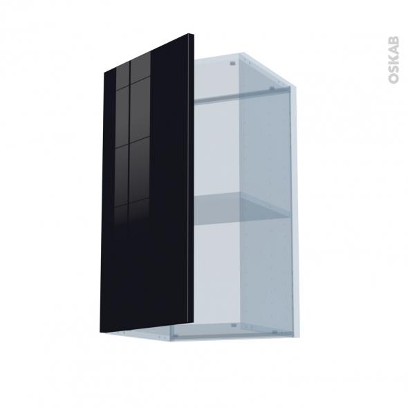 KERIA Noir - Kit Rénovation 18 - Meuble haut ouvrant H70  - 1 porte - L40xH70xP37,5
