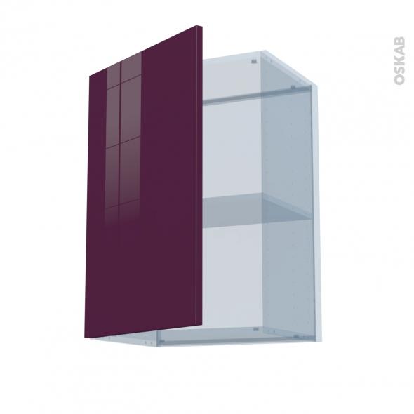 KERIA Aubergine - Kit Rénovation 18 - Meuble haut ouvrant H70  - 1 porte - L50xH70xP37,5