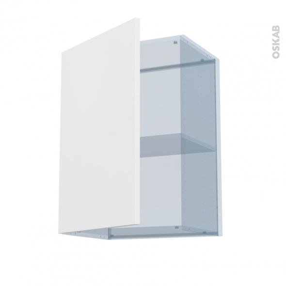 GINKO Blanc - Kit Rénovation 18 - Meuble haut ouvrant H70 - 1 porte - L50xH70xP37,5