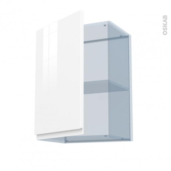 IPOMA Blanc - Kit Rénovation 18 - Meuble haut ouvrant H70  - 1 porte - L50xH70xP37,5