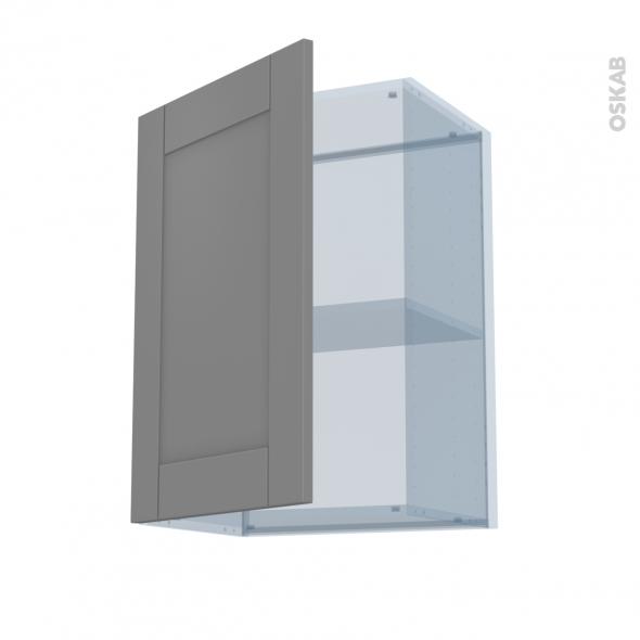FILIPEN Gris - Kit Rénovation 18 - Meuble haut ouvrant H70  - 1 porte - L50xH70xP37,5
